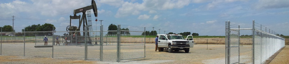 Built rite fence oil field fencing